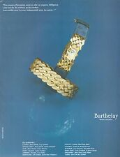▬► PUBLICITE ADVERTISING AD MONTRE WATCH Barthelay 1991