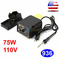 110V 75W 936 Adjustable Temperature Electric Soldering Station Kit w/ Iron Stand