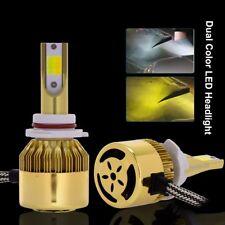 Dual Color 9006 HB4 LED Headlight 9600LM Car Replace Bulb Lamp Kit 6000K/3000K