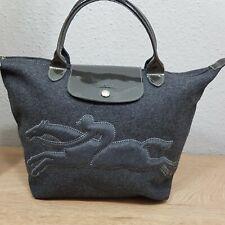 Longchamp modele depose Victoire Tasche mit Filz Ponyfell Pferd