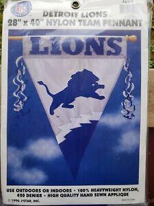 """Detroit Lions-Appliquéd Nylon Flag/Pennant-28""""x40""""-NFL"""