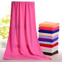 Serviette de bain drap microfibre toilette cheveux douche plage towel 70X140cm