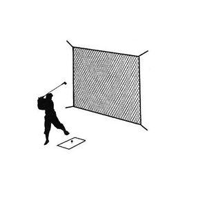 Golf Net Black Practice Driving Impact Screen Netting Roped Edges 10' x 10'