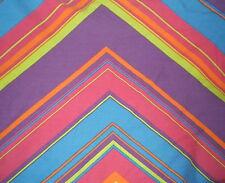 Retro BLUE,YELLOW,PINK, PURPLE GEOMETRIC Fabric (72cm x 50cm)
