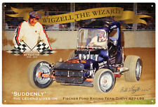 BILL WIGZELL   ROWLEY  PARK  SPEEDWAY RUSTIC TIN SIGN 20 x 30 cm.