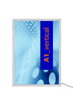 A1 LED Illuminated 12V Edge Lit Light Box Poster Snap Frame Retail Shop Display