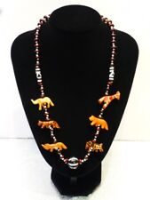 Wooden Beads and Seeds Necklace - Handmade in Kenya