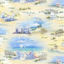 BEACH SCENIC ADIRONDACK CHAIRS FABRIC