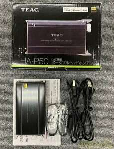 HA-P50-B TEAC DAC Equipped With Portable Headphone Amplifier Black From Japan