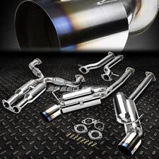 """FOR 09-16 370Z Z34 VQ37VHR 4.5""""BURNT TIP MUFFLER RACING HI-POWER CATBACK EXHAUST"""