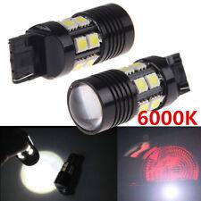 2Pcs White T20 7440 7443 25W 12-SMD LED Car Backup Reverse Light Brake Bulb