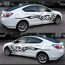 2PC Car Exterior Modified Supplies Black Flame Car Stickers Decals Cover Renew