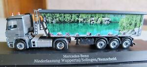 "Herpa MB Arocs Stöffelliner Sattelzug ""Wupper Truck 2013"""