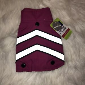 TOP PAW Winter Reflective for dogs Pink/black Winter Sweater & Coat SIZE XS New