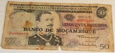 Banco de Mocambique Circulated Cinquenta (50) Escudos bank note