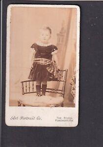 CDV Victorian Photo - Little girl - Hampshire Fordingbridge, Art Portrait Co