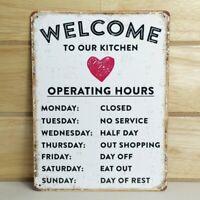 Vintage Kitchen Humorous Tin Sign Metal