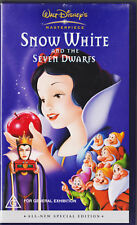 Snow White and the Seven Dwarves VHS tape