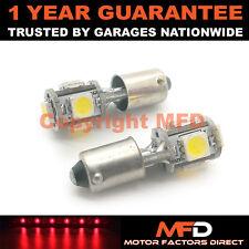 2X XENON ROSSO BA9S T4W 233 LUCI DI POSIZIONE UPGRADE 5 SMD LAMPADINE LED CANBUS