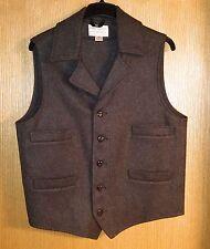 Filson Brown Western Vest Mackinaw Wool size Large