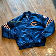 vintage nfl Chicago Bears Satin 80s 90s Starter jacket coat sz Large football