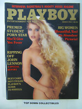 Playboy  Magazine   March  1984  Premed Student Porn Star Bridgette Monet