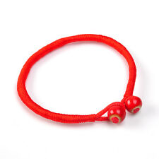 Women Men Lucky Charms Bracelets Bead Red String Ceramic Evil Eye Protection
