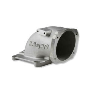 Holley Fuel Injection Throttle Body Adapter 300-240; Satin 105mm Chevy LS-Series