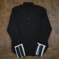 PAUL SMITH MENS Black 100% Cotton Shirt Size Large NEW
