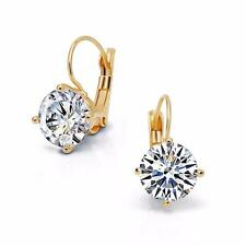 Ohrringe Hänger Zirkonia weiß 750er Gold 18 Karat vergoldet gelbgold O2709L