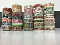 Quality WASHI TAPE Roll Hearts, Tropical, Flowers, Unicorns, Pineapples 10m