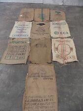 Lot of 15 Burlap / Sisal Coffee Green Coffee Bean Bags Gunny Sack
