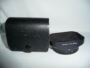 Genuine Original OEM Asahi Pentax Takumar 28mm F3.5 Lens Hood Shade Mint in Case