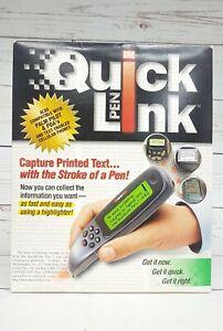 1999 WizCom QuickLink Pen Handheld Scanner Super Pen Brand New, Open Box
