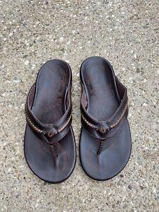 OluKai Mea Ola Sandal  Dark Java/dark java Size 11 US Men's Flip Flop