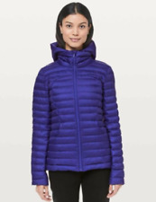 New Lululemon PACK IT DOWN AGAIN JACKET SIZE 4 Blue LAZURITE Hooded