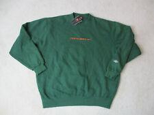 NEW VINTAGE Nike Miami Hurricanes Sweater Adult Extra Large Green Football 90s U