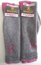 Browning Ladies Wool Blend Boot Socks Made in USA, Assorted Socks, Size 9-11