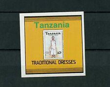 Tanzania stamps: 1992, Traditional costumes, Mini-sheet, MNH & OG