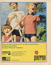 PUBLICITE ADVERTISING 094 1967 PIERRON vêtements enfants