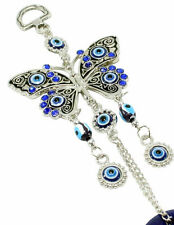"""Blue Evil Eye 2.75"""" Butterfly Amulet Protection Wall Hanging Home Decor Gift"""