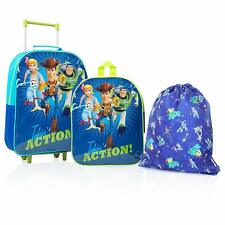 Toy Story 4 Kids Bundle Travel Set Backpack,Trolley Suitcase and Drawstring Bag