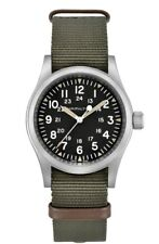 NEW HAMILTON KHAKI FIELD MECHANICAL 80 HOUR 38MM GREEN N.A.T.O STRAP H69439931