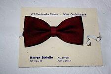 DDR Original 70er Jahre Fliege Schleife Binder Nylon Rot schmal Vintage