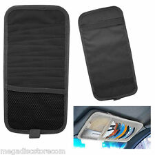 12 Disc Capacity CD Car Sun Visor Storage Dvd Holder Black Pocket Case Organizer