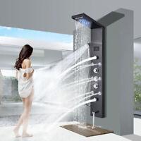 ELLO&ALLO Shower Panel Tower System LED Raifall  Waterfall Massage Body Jets