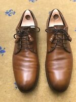 Gucci Mens Shoes Tan Brown Leather Lace Up UK 10.5 US 11.5 EU 44.5 Decorative