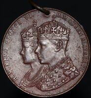 1937 | George VI & Queen Elizabeth Coronation Medal By T. Fattorini | KM Coins
