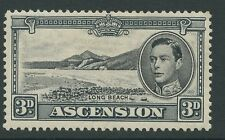 Ascension Island SG42a 1940 3d. black grey P13.5