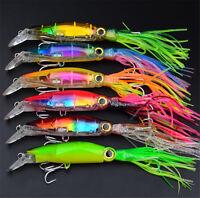 24cm/40g Fishing Lures Squid Lures Fish Bait Crankbait Tackle Jig Treble Hook